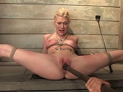 Two blondes in lesbian BDSM.