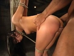 Lots of sex in bondage as Roxy DeVille takes a punishment.