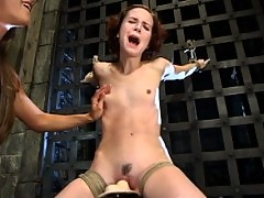 Bondage, the sybian, ass licking, dildo gags, and strapon sex.