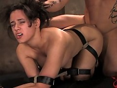 Innocent girl gets bound, spanked and fucked!