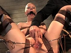Cherry Torn is punished in strict slave training!